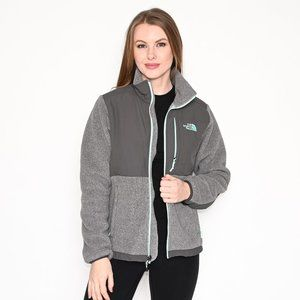 THE NORTH FACE Gray Denali Fleece Zipper Jacket